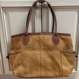 Fossil straw tote